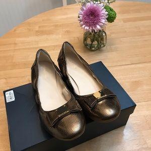 Cole Haan Tali Bow Ballet Bronze shoes size 10 box